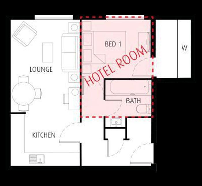 Hotel VS Apartment Floorplan