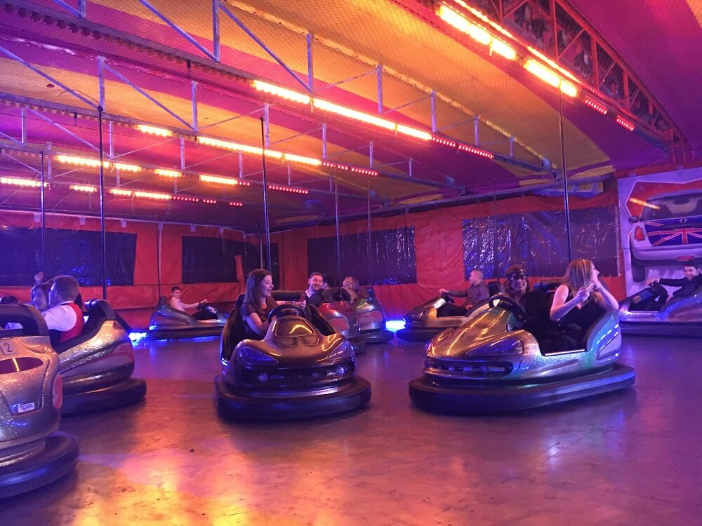Bumper car action from the House of Fisher team!