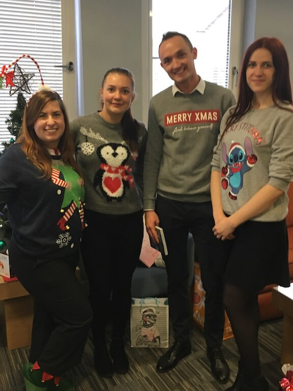 House of Fisher Team in Their Christmas Jumpers