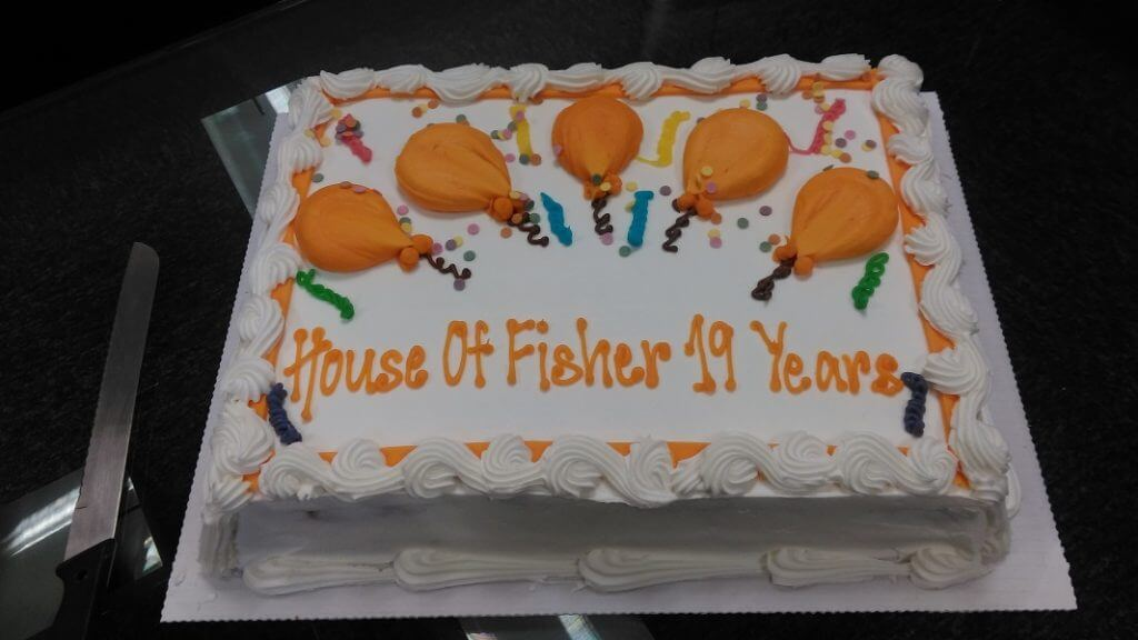 House of Fisher 19th Birthday Cake