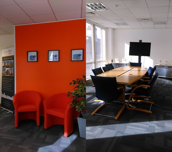 House of Fishers new office waiting area and boardroom