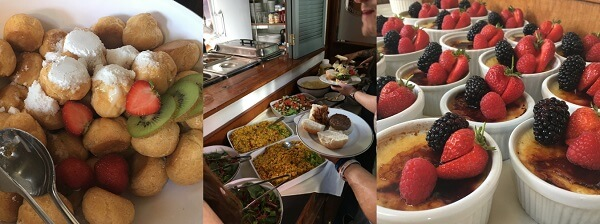 Delicious food on the 2019 House of fisher boat trip