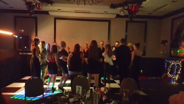 House of Fisher employees on the dance floor to celebrate 2017!