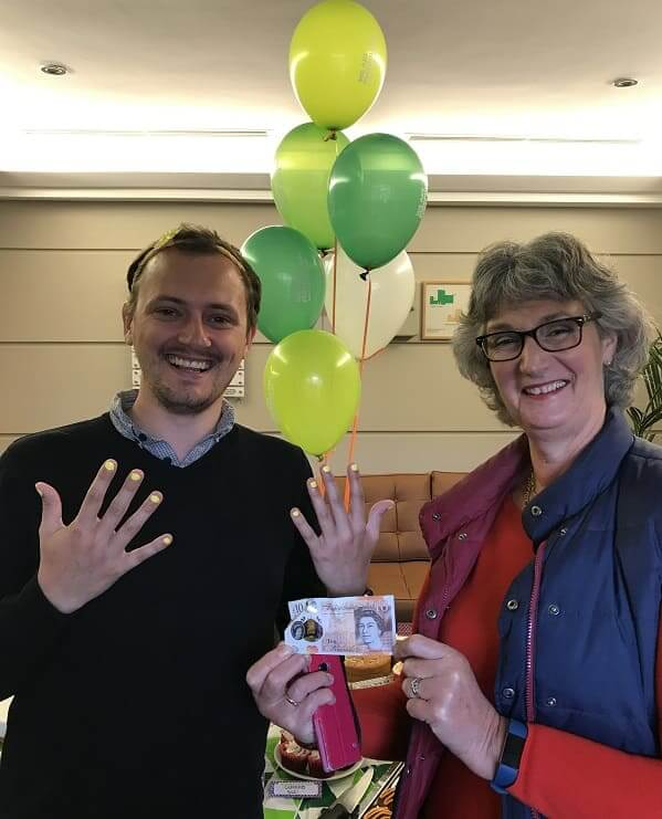 Guest Services wins the bet to raise £10 for Macmillan 2017