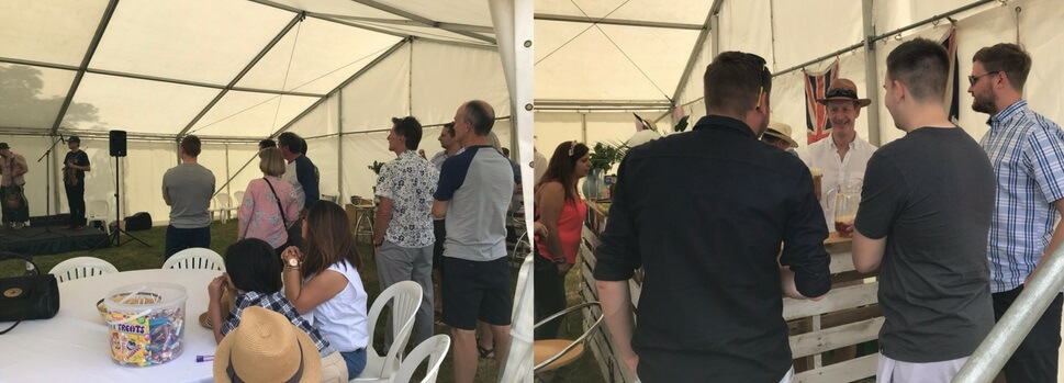 House of Fisher employees enjoying the Summer Party 2018