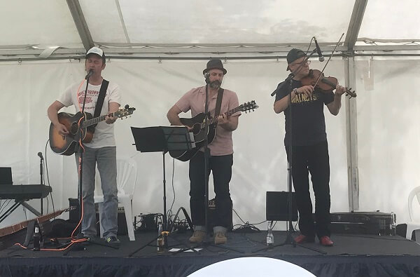 The Walnuts performing at the House of Fisher Summer Party 2018