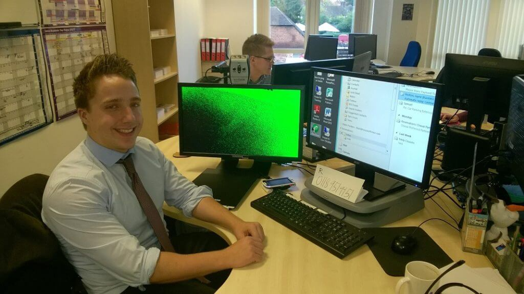 Niall enjoying work and the apprentice scheme at House of Fisher