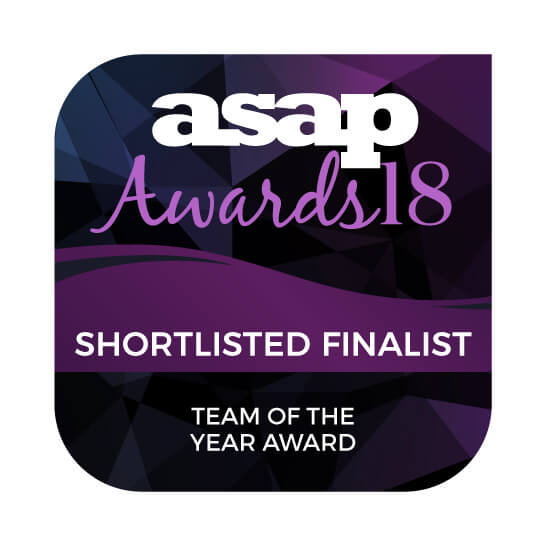 Shortlisted Finalist for ASAP Team of the Year Award 2018