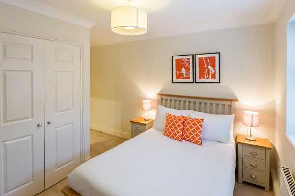 House of Fisher Stanshawe Court, Reading Serviced Apartment Bedroom after refurbishment