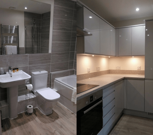 Tamesis Place, Reading bathroom and kitchens