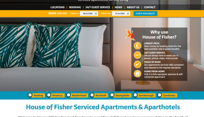 house of fisher website home page