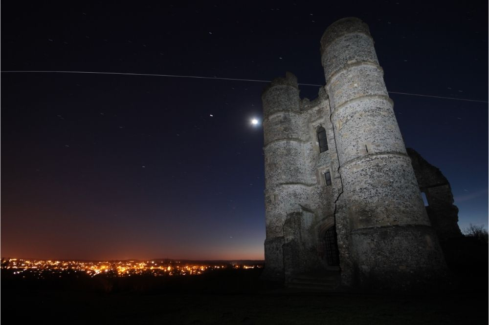 See the Donnington Castle ruins in the day & night