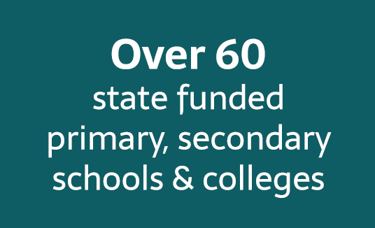over 60 state funded schools
